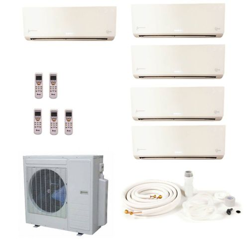 KMS Air Conditioning Multi 5 x 2.5kW Wall Mounted System KMS-5MIO/X1CM Inverter Heat Pump 12.5 kW / 43000 Btu 240V~50Hz